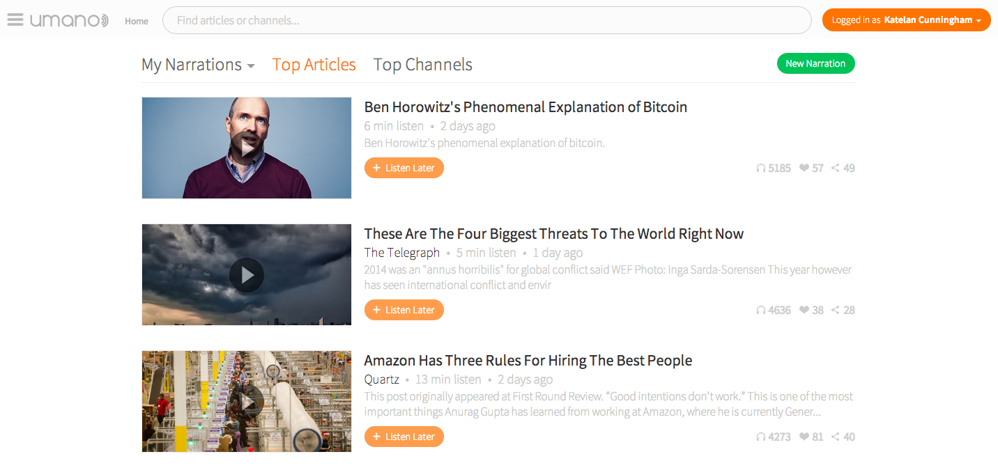 Umano-top stories