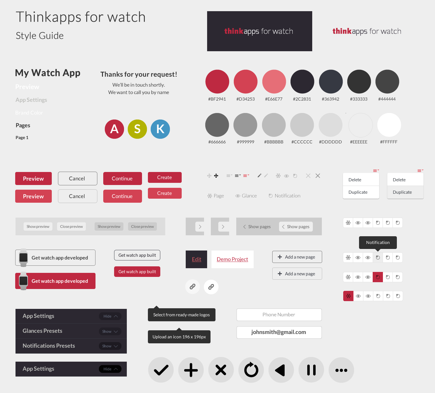 ThinkApps for Watch style guide