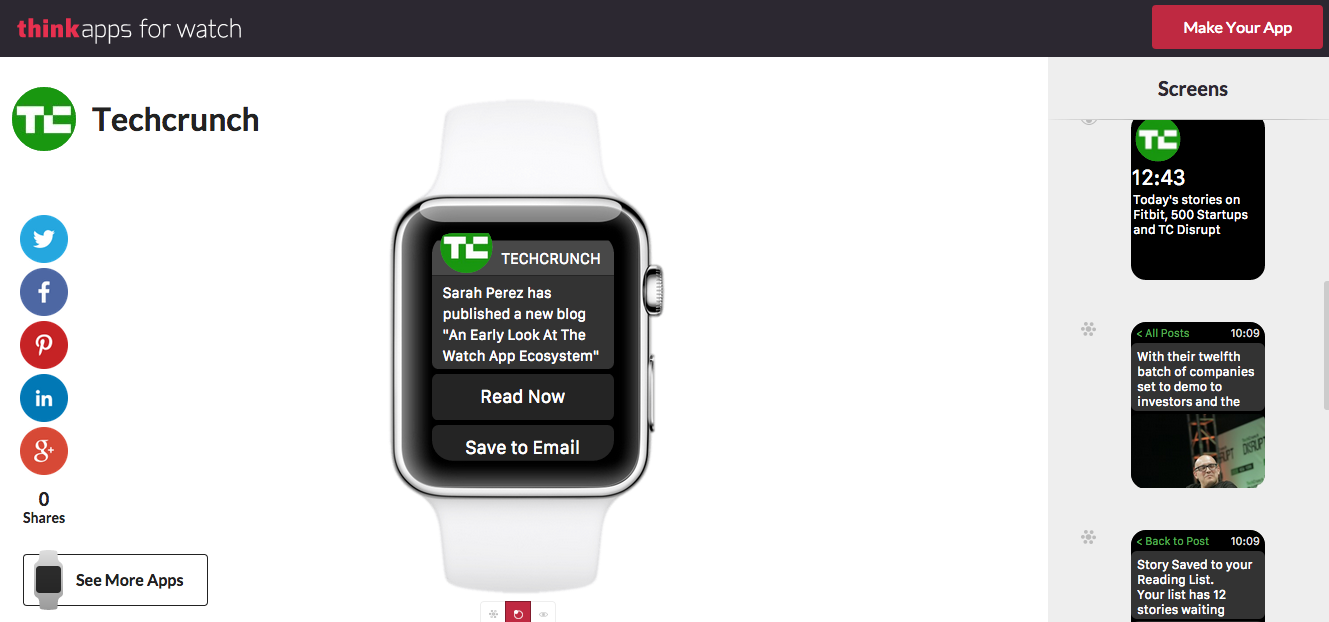 TechCrunch sample app