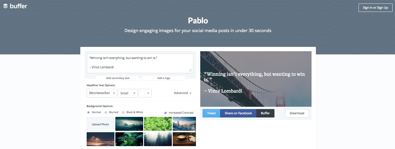 Viral Images - Pablo by Buffer