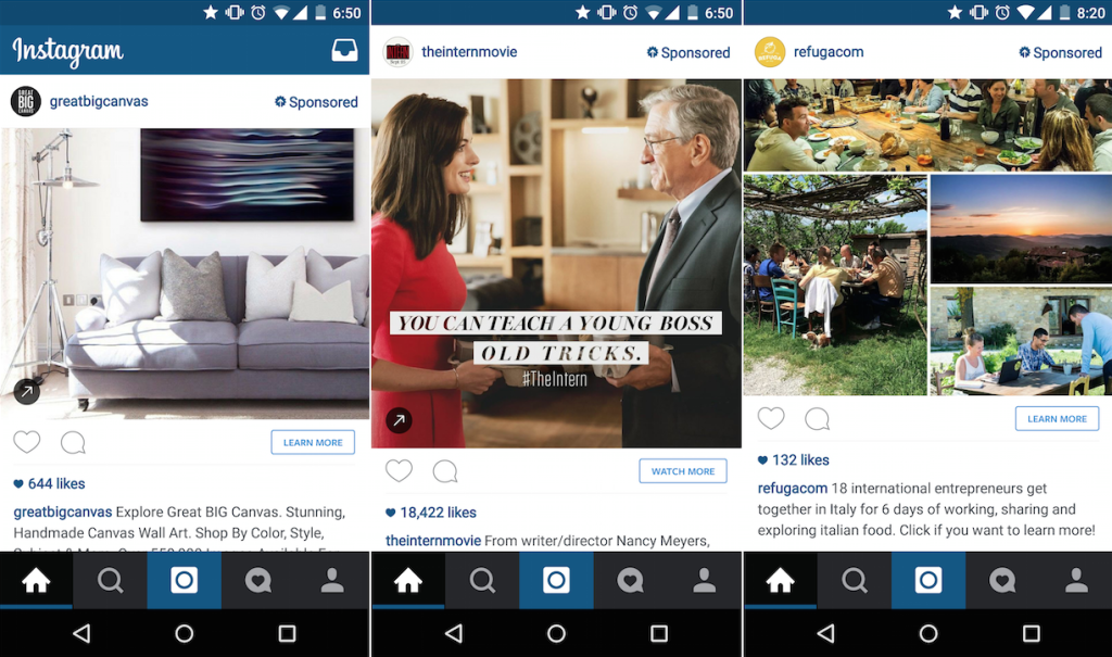 Native Advertising - Instagram example
