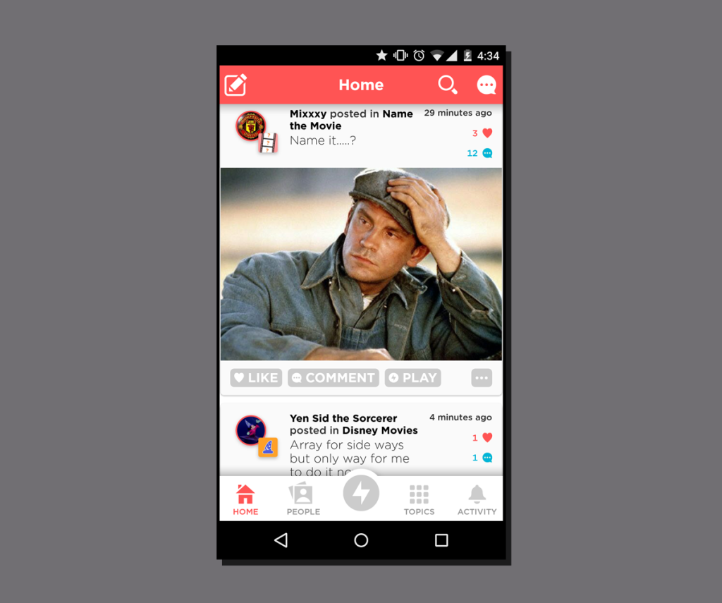 Activity Stream quizup-home-feed