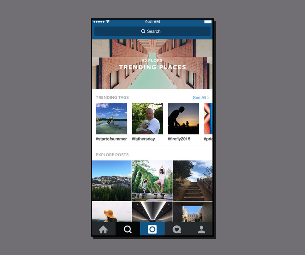 Activity Stream Instagram-Discover