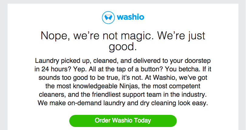 On-demand services - Washio