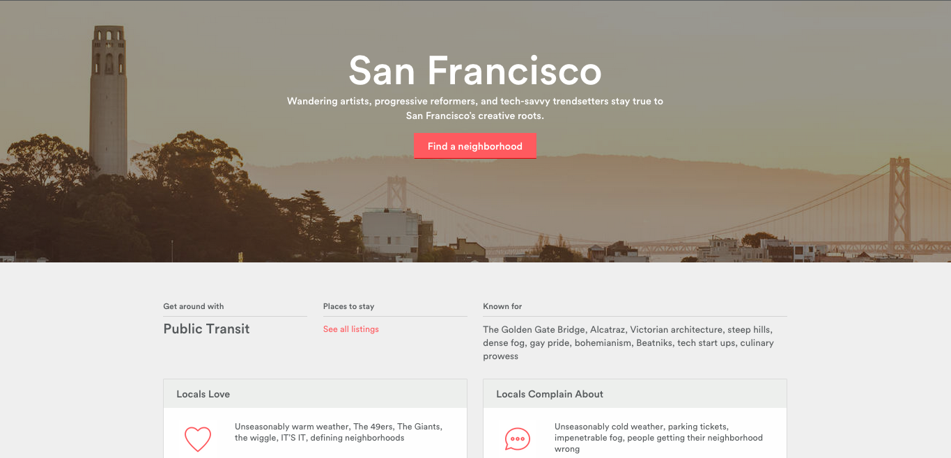 On-demand services - Airbnb