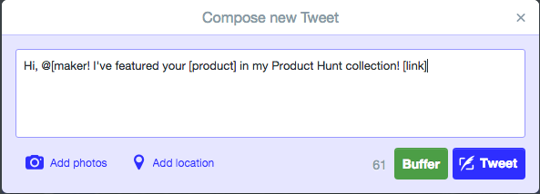 Product Hunt - Collection Tweet