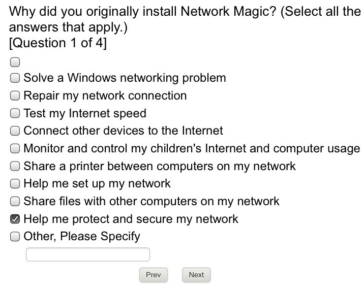Exit Survey - Network Magic