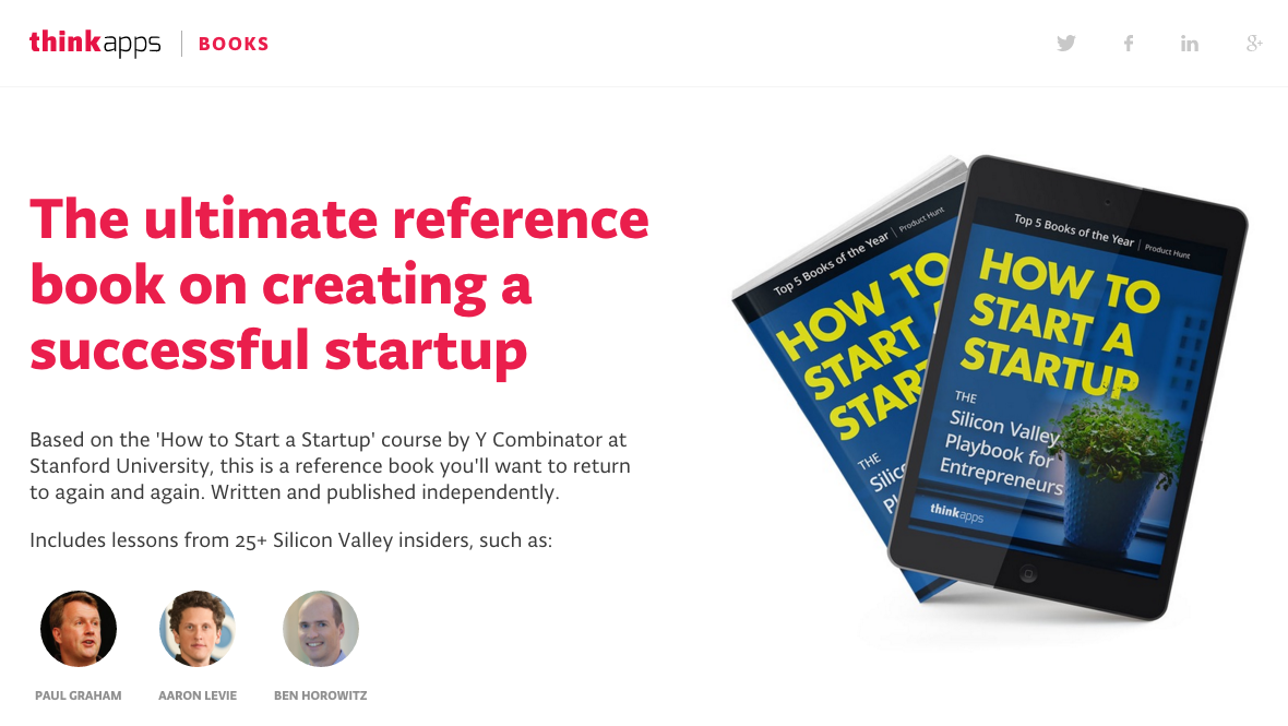 How to Start a Startup: The Book