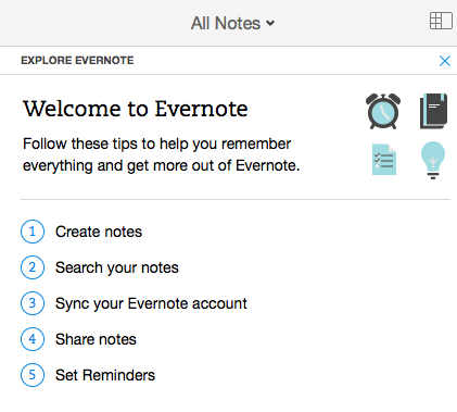 Quick Wins - Example from Evernote 1