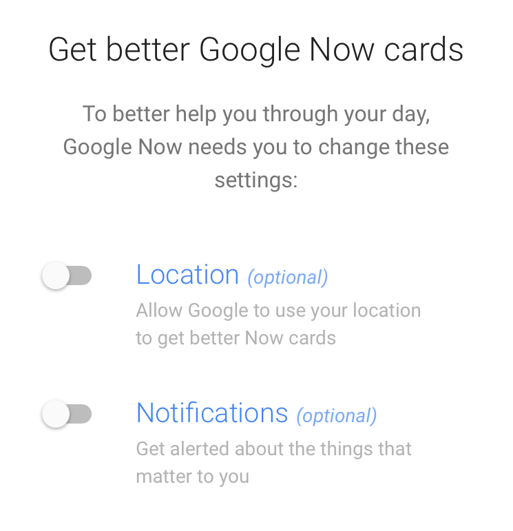 Mobile App Notifications - Example of Google Now 2