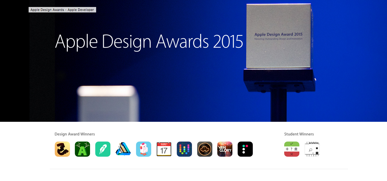 Top App Awards: Apple Design Awards