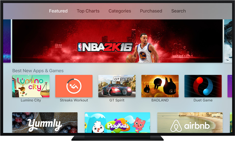 Apple TV: Apps and Games