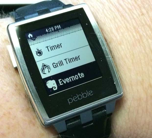 Evernote on Pebble