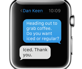 Apple Watch Contextual Response