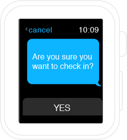 Apple Watch Modal Sheet